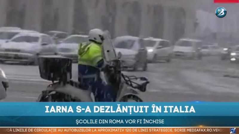 IARNA S-A DEZLĂNȚUIT ÎN ITALIA. ŞCOLILE DIN ROMA VOR FI ÎNCHISE