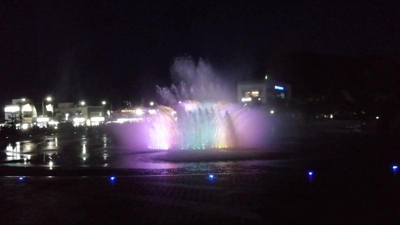 Пусан. Поющие фонтаны