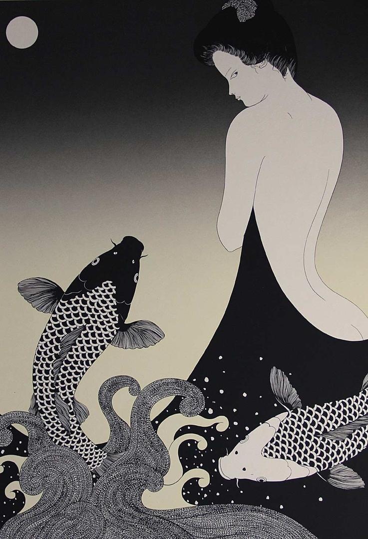 Работы японской художницы Kojima Kimiko, 1970-1980-е годы.