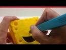 Видео из интернета, как сделать Спанч-Боба 3d ручкой