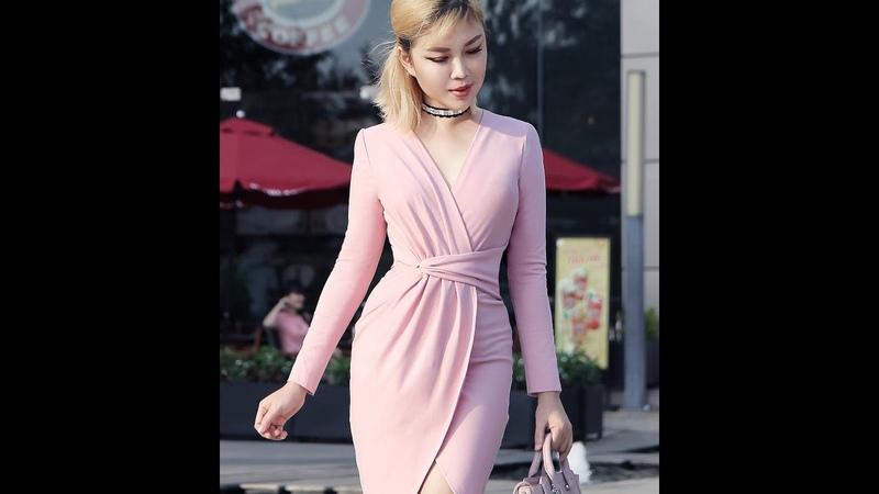 FiFi Style : DIY Pleated Wrap Bodycon Dress (Hướng dẫn may đầm xếp ly, thắt eo)