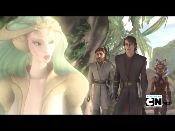 Anakin Obi Wan and Ahsoka Tano Meet The Daughter on Mortis Star Wars The Clone Wars 1080p HD
