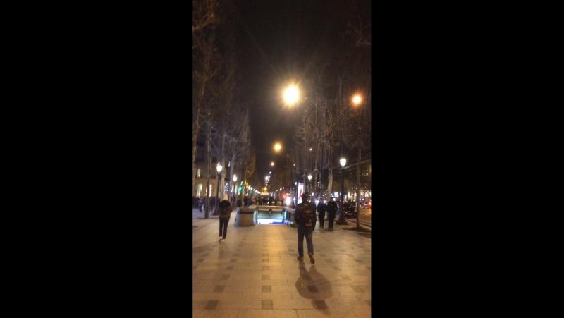 Мой декабрь...мой январь... Франция 🇫🇷 Париж... ❤️ Елисейские поля...