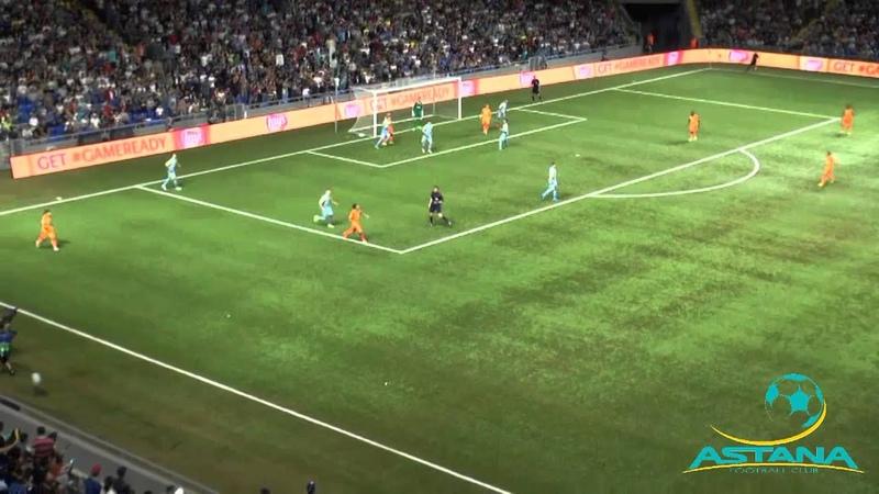 первый матч раунда плей-офф Лиги чемпионов АСТАНА АПОЕЛ 1-0