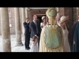 Members of the Royal Family arrive at St Jamess Palace for the christening of Prince Louis.