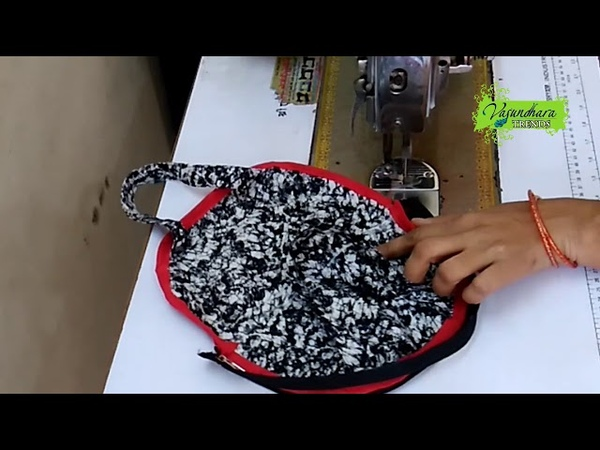 Stylish Hand Pouch Making With Fabric At Home || Easy Simple Hand Purse Stitching Tutorial