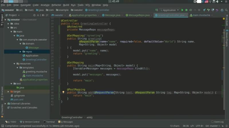 2.Spring Boot JPA (Hibernate) добавляем базу данных в веб приложение на Jav.mp4