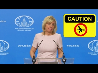 Russia's reaction to U.S. missile strike on Syria: vaginal farts of Russia's Foreign Ministry Spokesperson Maria Zakharova.