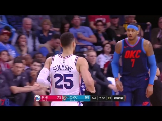 Ben Simmons | Highlights vs. Thunder (01.28.18) 22 Pts, 7 Asts, 4 Rebs, 1 Blk, 1 Stl