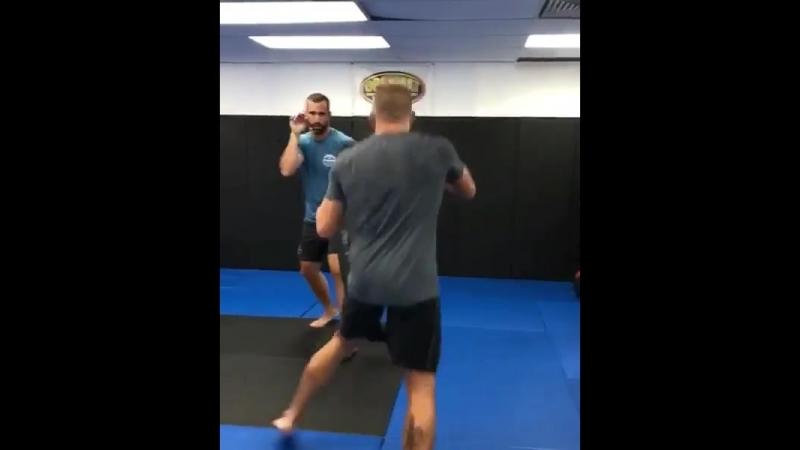 Джордж Сент-Пьер на тренировке