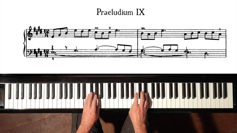 Bach Prelude and Fugue No.9 Well Tempered Clavier, Book 1 with Harmonic Pedal
