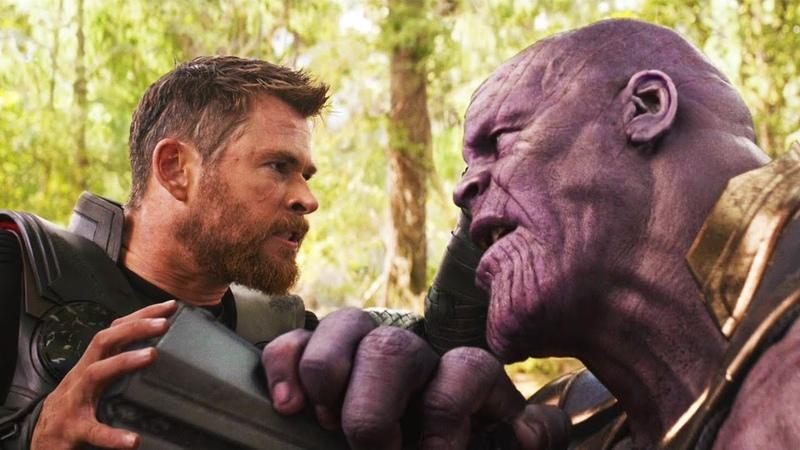 Тор против Таноса | Мстители: Война бесконечности (2018)