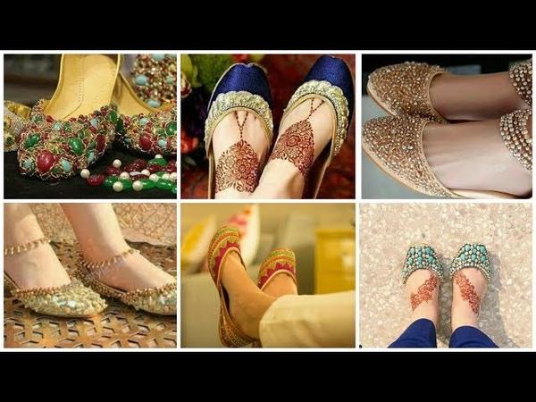 Bridal Wear Khussa Designs Ideas *Mahendi Mayoo For Bride's Shoes