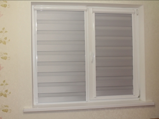 Рулонные шторы UNI2 Зебра ткань Лофт Блэкаут от Срочно Жалюзи