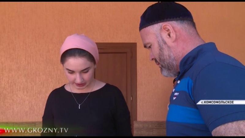 В аэропорту Грозного встретили жителя Чечни который находился на лечение в Санкт-Петербурге