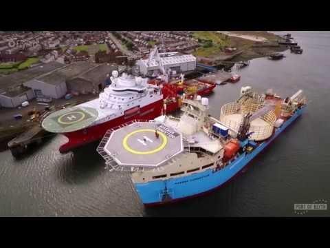 Port of Blyth aerial video for renewable offshore energy supply base