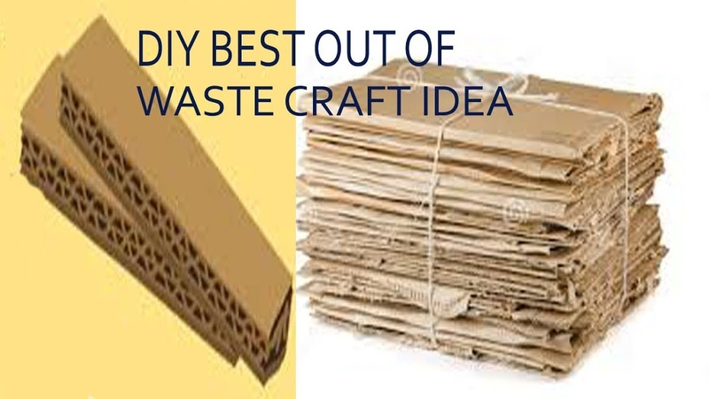 DIY Best out of waste reuse craft idea.Waste material craft.