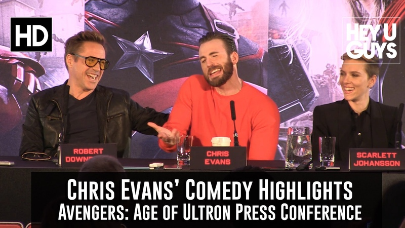 The Chris Evans Comedy Montage - Avengers: Age of Ultron Press Conference