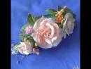 Авторские зажимы для волос с цветами из фоамирана. Работы Ираиды Грязновой