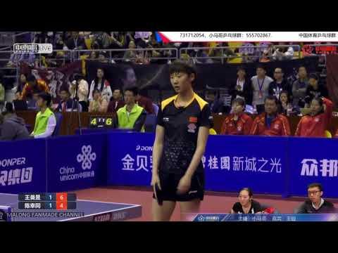 Wang Manyu vs Chen Xingtong | Chinese Warm-up for WTTTC 2018