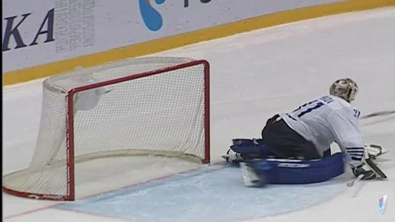 Моменты из матчей КХЛ сезона 14/15 • Гол. 4:5. Бут Дэвид (Адмирал) приносит победу своей команде в серии буллитов 26.11