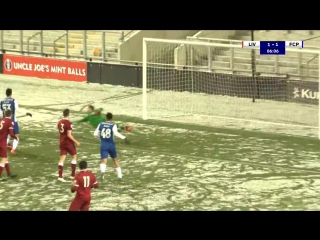 Futebol  liverpool-fc porto b, 1-2 (premier league international cup, quartos de final, pre