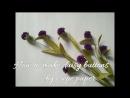 D I Y How to make paper flower daisy buttons Làm hoa cúc áo bằng giấy nhún