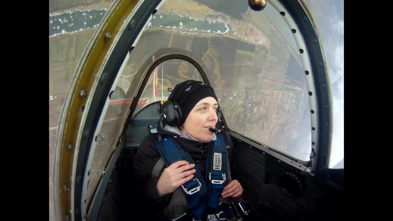 Мой пилотаж на ЯК-52 на аэродроме Большое Грызлово, недалеко от г. Пущино. 07.01.2018