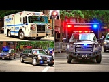 Secret Service in Action President Trump Motorcades - BEST OF 2017 - NYPD Police Cars - New York