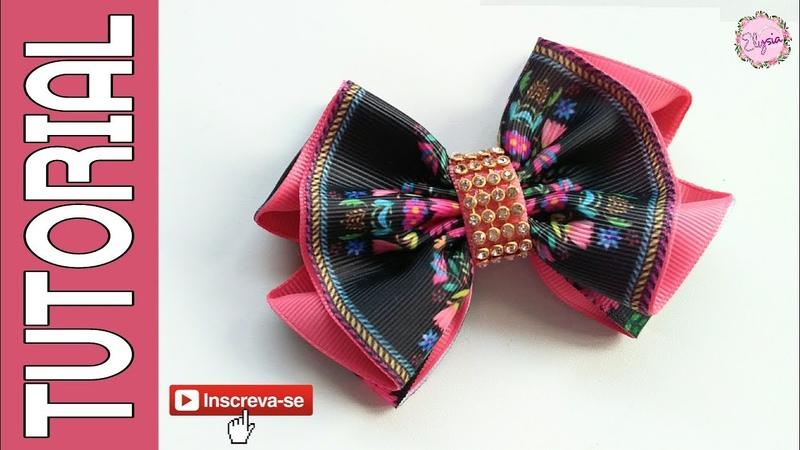 Laço Millena Fita N9 🎀 Ribbon Bow Tutorial 🎀 DIY by Elysia Handmade