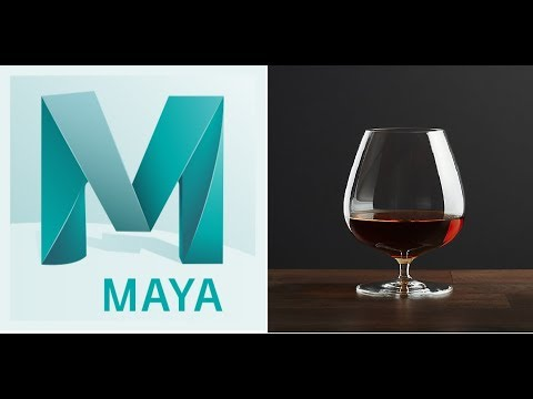 Maya Tutorial Modeling Whiskey Glass and Render
