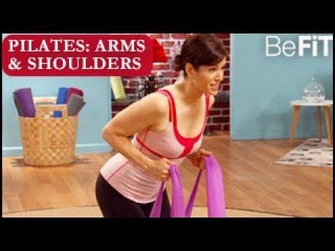 Pilates: Defined Arms Shoulders Routine- 10 Min Solution | Lara Hudson