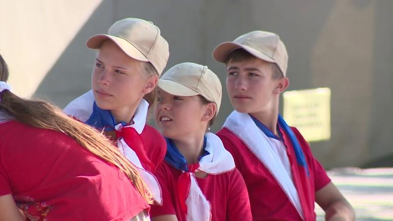Открылся детский военно-патриотический лагерь