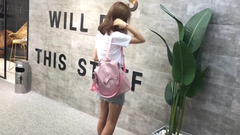 Мягкая кожа Для женщин лук мешок, школьная сумка для девочек-подростков большой Ёмкость сумки на плечо женский, черный рюкзак XA
