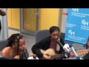 Chloe x Halle singing for patients at the Childrens Hospital of Philadelphia July 30
