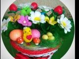 Приглашаю посмотреть мои корзиночки с цветами из фоамирана!