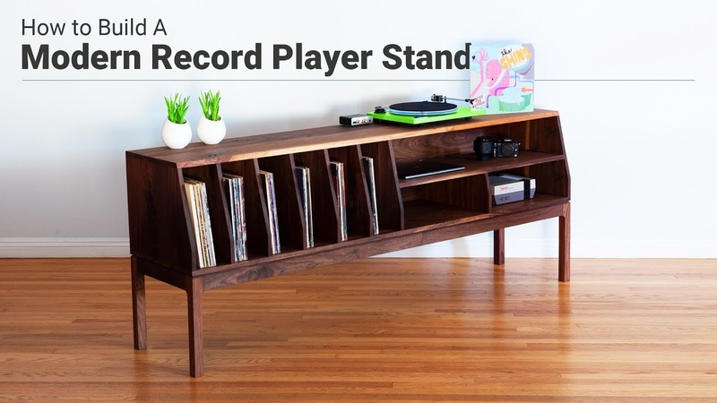 How to Make a TV Stand / Record Player Console | Woodworking