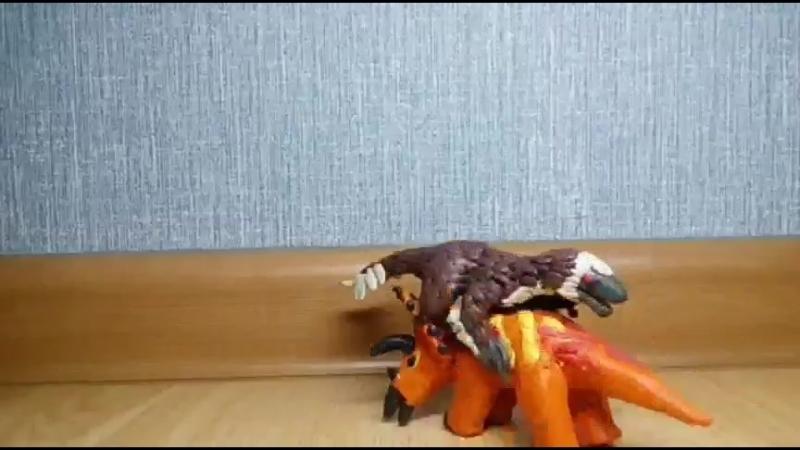 Ютараптор против трицератопса