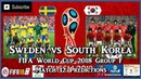 Sweden vs South Korea | FIFA World Cup 2018 Group F | Match 12 Predictions FIFA 18