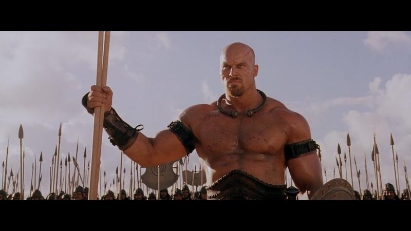 Троя. Ахиллес убивает огромного воина Багриса.