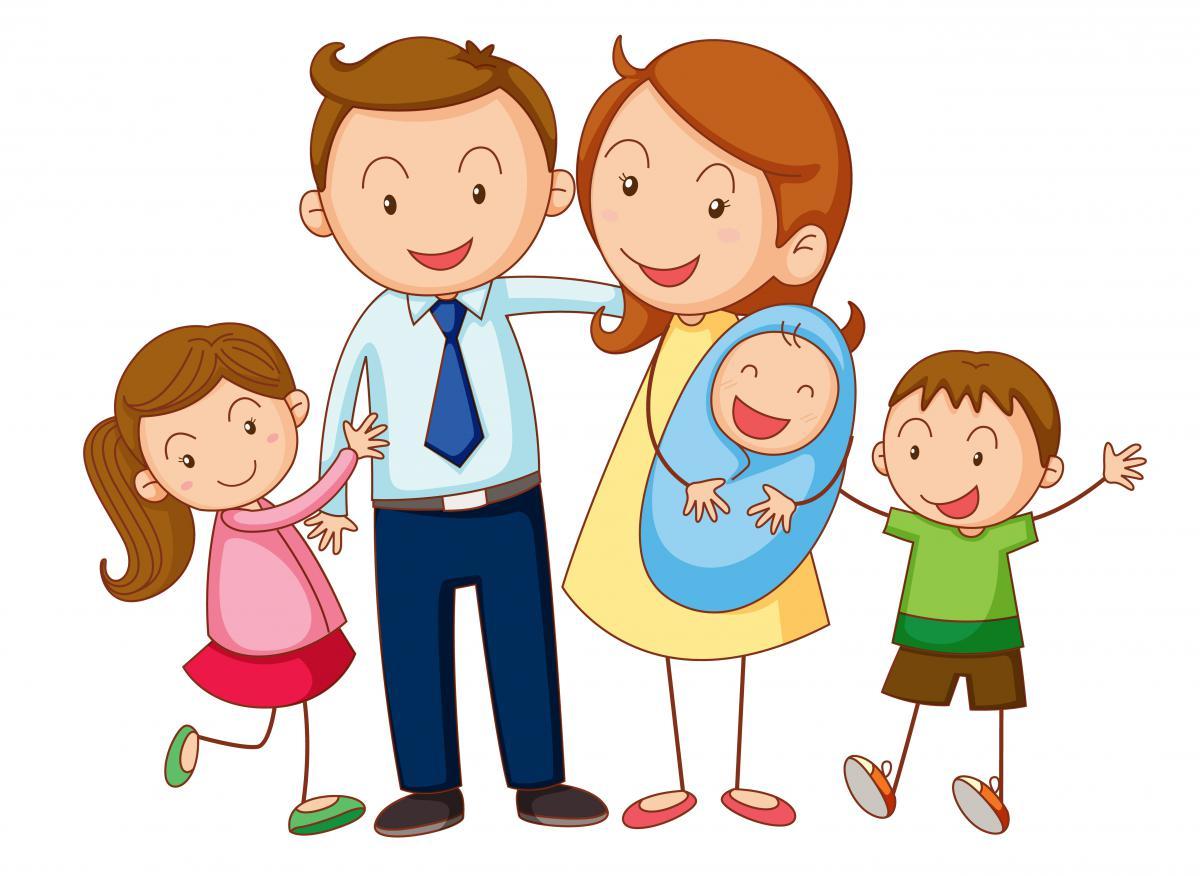 Мультяшные картинки семьи, для