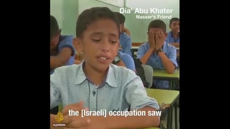 Classmates of 12 years old Palestinian martyr Nasser are crying for him... by Al Jazeera English
