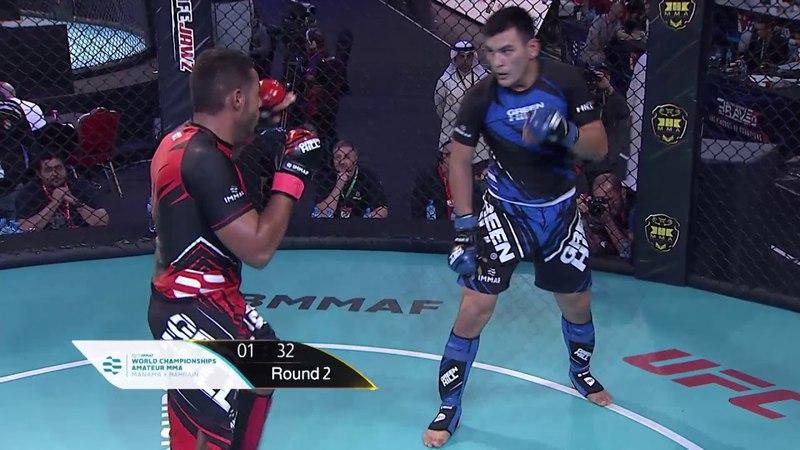 Abdulrahman Alhasan (BAH) x Madi Dosmukhametov (KAZ) - World championship Amature MMA 13/11/2017