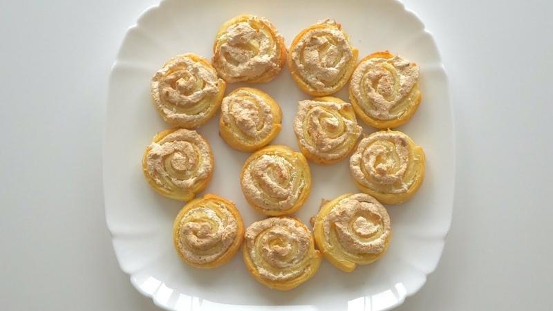 Творожное печенье Розы с меренгой. Просто, красиво, вкусно