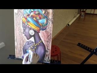 Африканка ведет А Лобанова