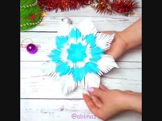 Пушистая снежинка своими руками ❄