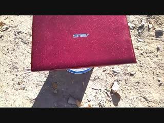 Окраска флэйками ноутбука Asus, материалами Air Master.
