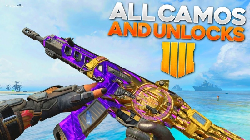 Black Ops 4 ALL CAMOS, Emotes, Sprays, Weapon Inspections! (Singularity Camo)