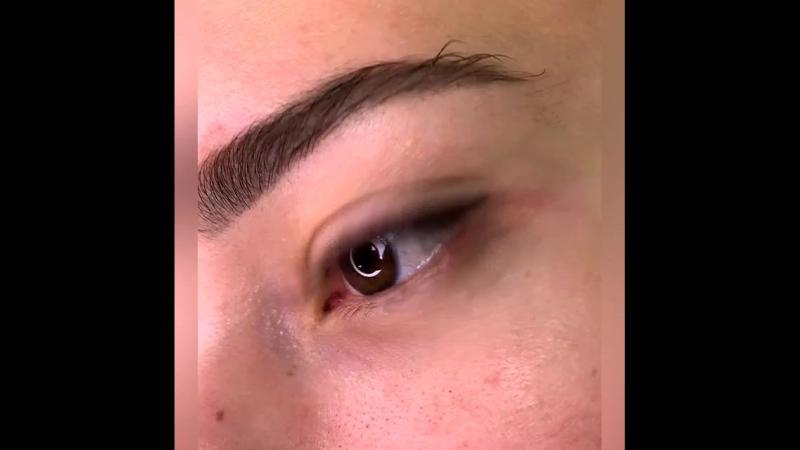 Перманентный макияж век сразу после процедуры 🦋Ведущий мастер Татьяна М liontattooTatianaM
