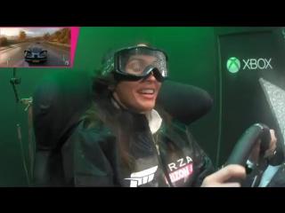 Megan Fox Playing Forza Horizon 4 Season Simulator: Highlights (facebook.com/MeganFox)